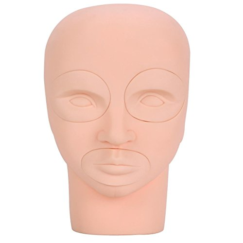 Yimart Pro 3d Mannequin Training Head Cosmetology Eyelash Eye Extension Practice Make up Face Painting Tools (1training Head+2eyes+1lip)