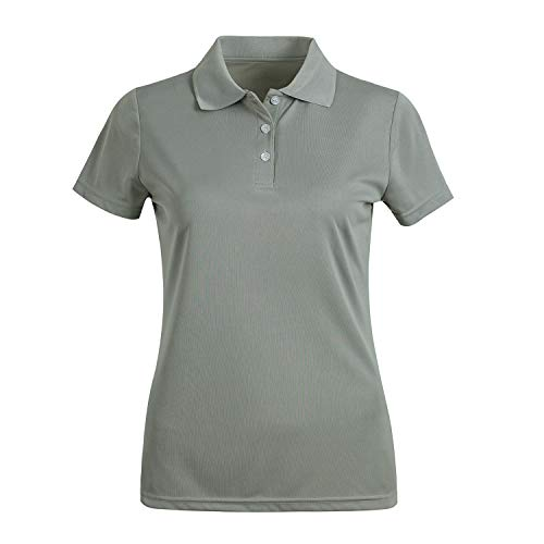 MOHEEN Women's Short Sleeve Polo Shirts Moisture Wicking Athletic Golf Polo Gray L ()