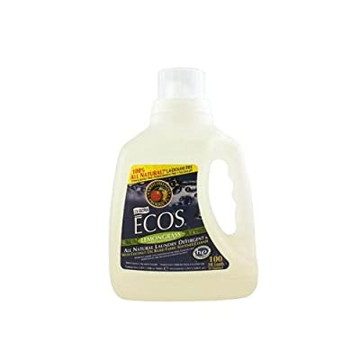 2 Packs of Earth Friendly Ecos Ultra 2x All Natural Laundry Detergent - Lemongrass - 100 Fl Oz