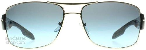 Prada Sport Sunglasses - PS53NS / Frame: Silver Blue Lens: Gray - Frame Silver Sunglasses Lens Blue