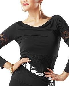 Taka Dance Women's Blouse [Black Lace] [LP-BL18] by TAKA DANCE