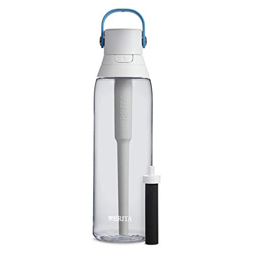Brita 26 Ounce Premium Filtering Water Bottle with Filter BPA Free – Clear