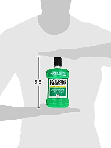Listerine Freshburst Antiseptic Mouthwash For Bad Breath, 1.5 L, (Pack of 6) by Listerine (Image #9)