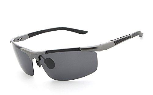 Gafas de MXNET Gray protección Gafas Sol Hombres clásicas de de Black Gafas para polarizadas UV400 Ciclismo Vuelo de gray Color Sol de Blue rXnXSxw
