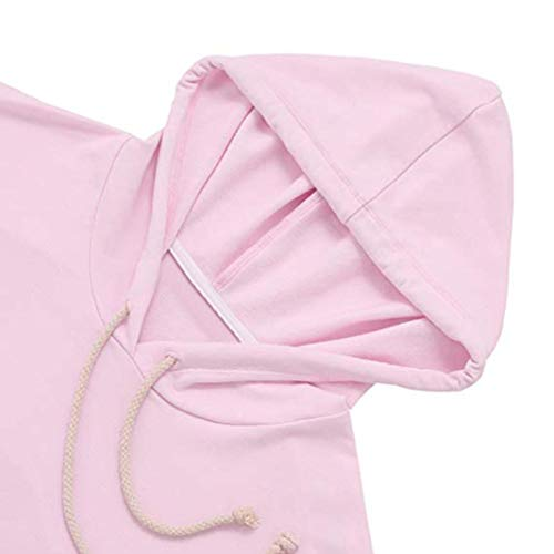 Tops Rose T Imprim Capuche Blouse Sweat AIMEE7 Femme d'pissure Longue Manche Shirt RHPwq
