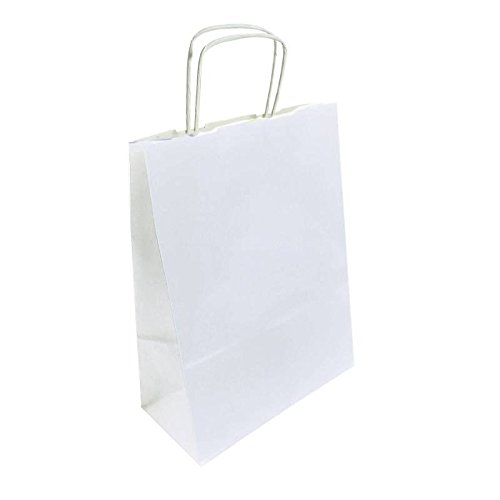 50 bolsas de papel Kraft blanco 24 x 11 x 31 cm - 6289 ...