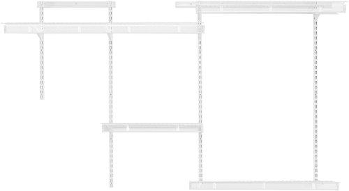 Rubbermaid FastTrack Multi-Purpose Closet Kit, Deep, White ()