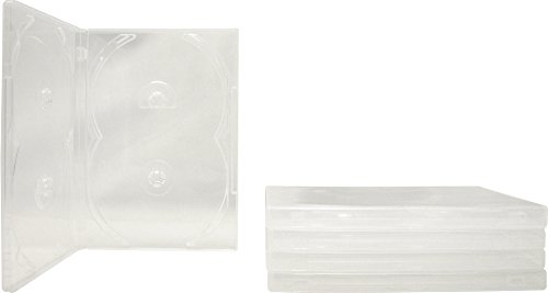 (5) Clear Quad 4-Disc Overlap Style DVD Cases / Boxes - DV4R14CL