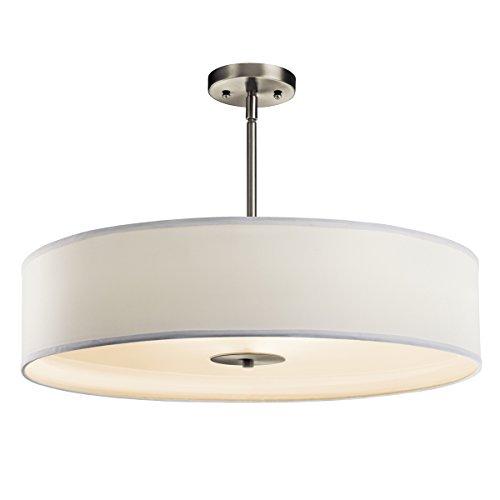 Kichler 42122NI Three Light Pendant/Semi Flush Mount (24 Inch Semi Flush)