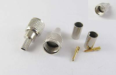 FidgetFidget Plug 10 Pcs Mini UHF Male Crimp RG58 RG142 RG400 LMR195 Connector