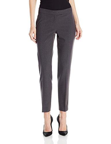 Anne Klein Women's Slim Leg Pant, New Grey, 10