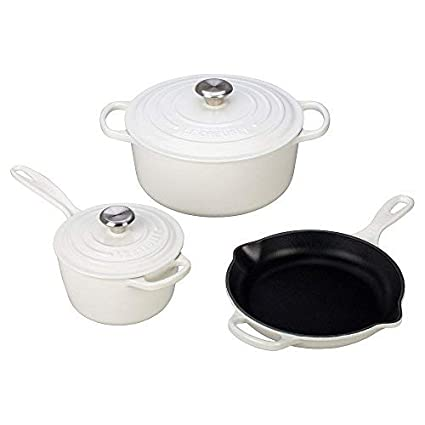 b30968a8245 Amazon.com  Le Creuset 5 Piece Signature Enameled Cast Iron Cookware ...