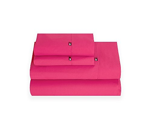 Tommy Hilfiger Signature Sheet, King, Berry Rose