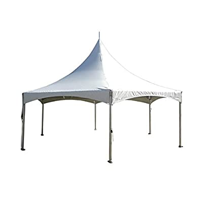 20' x 20' High Peak Frame Party Tent - White Top - Heavy Duty Twin Tube 8' Poles - Canopy for Weddings, Graduations, Banquets and Events: Sports & Outdoors