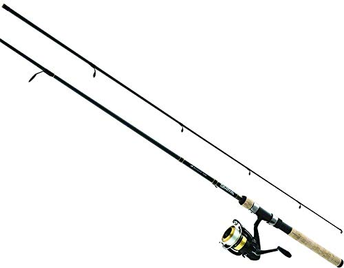 Daiwa DSK30-B/F702M-12C D-Shock Freshwater Spinning Combo, 3000, 7′ Length, 2Piece Rod, 6-14 lb Line Rating, Medium Power