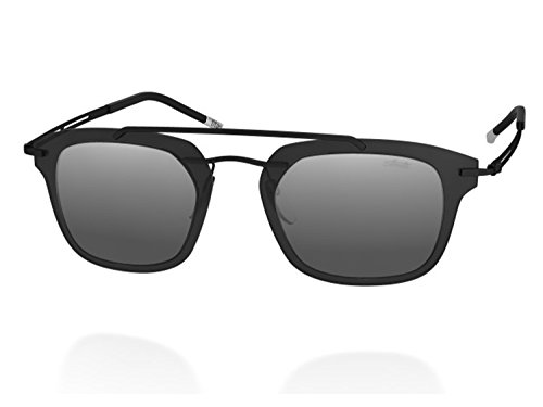 Silhouette EXPLORER LINE EXTENSION many Shape Very (8690 matte black / silver mirror lens, one color) (Silhouette Mirror)