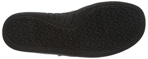 Ganter SENSITIV KURT, Weite K - Zapatillas de casa de cuero hombre negro - Schwarz (schwarz 0100)