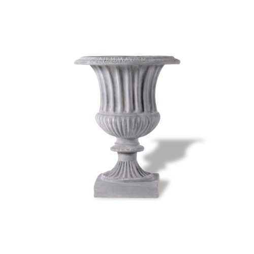 Amedeo Design ResinStone 2509-26G Classic Ribbed Urn, 22 by 22 by 29-Inch, Lead Gray ()