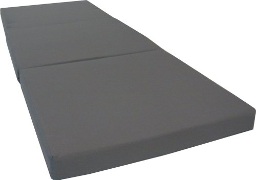 D&D Futon Furniture Gray Shikibuton Trifold fully spread out