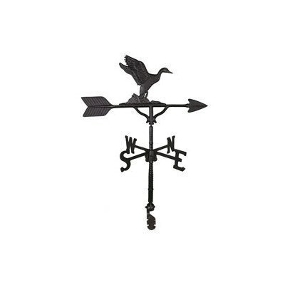 Montague Metal Products 32-Inch Weathervane Satin Black Duck Ornament by Montague Metal Products