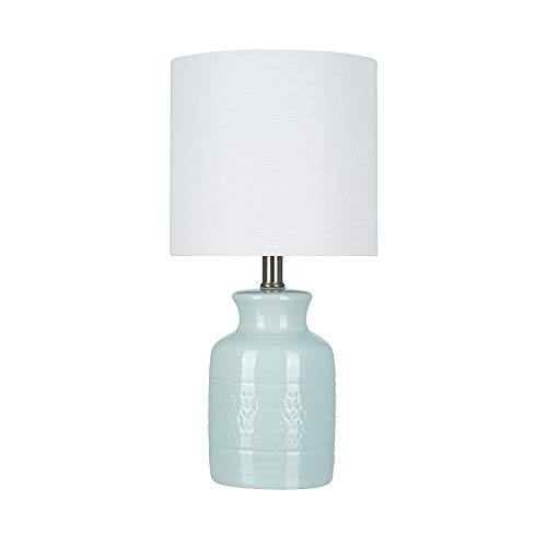 Stone & Beam Textured Ceramic Table Lamp, Bulb Included, 16.75