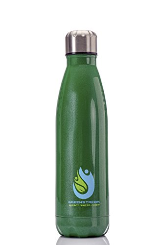 Stainless Steel Double Wall Insulated Water Bottle | Bundled with Hiking Accessory