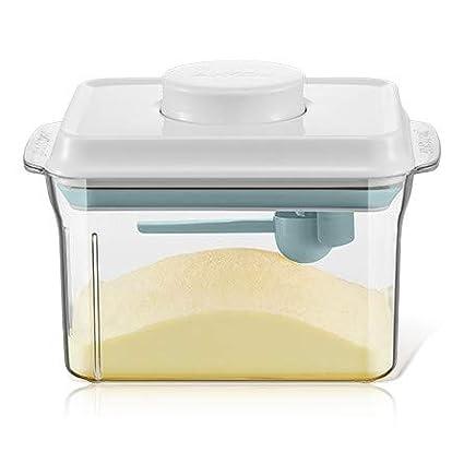 Milchpulver Trockenfutter f/ür Reisen und Ausgehen,1500ML Milchpulver-Spender Glas Luftdicht M/üsli Beh/älter