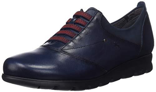 Fluchos Zapatos Derby para Susan Oceano Oceano Azul Sugar Nobuck Mujer Cordones de r6wFBr