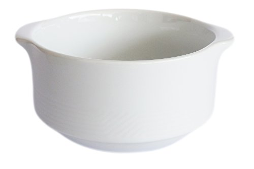 Porcelain Ceramic Onion Soup Crock Bowl Small 10 Ounce