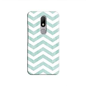 Cover It Up - Blue Bubblegum Stripe Moto M Hard case