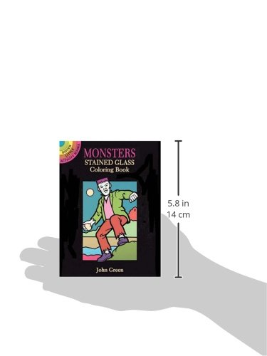 Monsters Stained Glass Coloring Book (Dover Stained Glass Coloring Book)