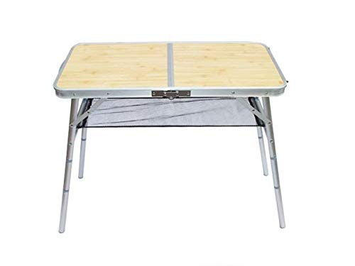 Travel Collection Folding Camping Table Indoor Outdoor Portable Lightweight Folding Dining Table for Picnic Party Foldable Mini Bed Laptop Table Desk (Silver)