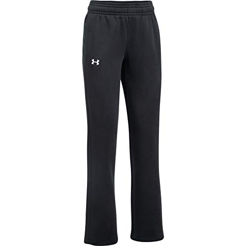 Under Armour Women's Hustle Fleece Pants , Black (001)/White , Small