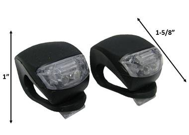 Wheelchair, Scooter, Bicycle Mini Black Silicone LED Visibility Lights