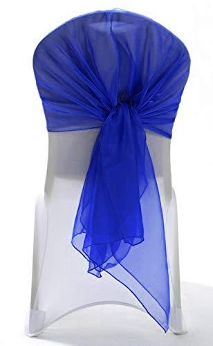 MDS 10個パックオーガンザフードサッシ椅子サッシ 海外 bows Hoodsサッシの結婚やイベント行事にインテリア椅子サッシフードリボン 150 正規逆輸入品 ブルー Blue ロイヤルブルー Royal sash_ B075XSLJ6K _Hood