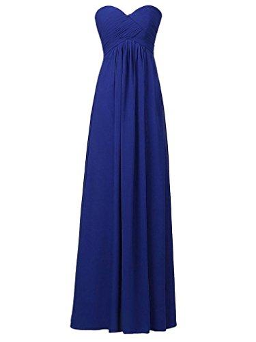 Gasa Honor Sin Dama Royal JAEDEN Azul Baile de de Vestido de Tirantes Larga Noche Plisada Vestidos de de 1wqZF7