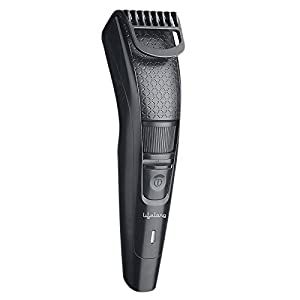 Lifelong LLPCM13 Cordless Beard Trimmer, 1 Year Warranty ; Runtime: 45 minutes and 20 Adjustable length settings (Black)