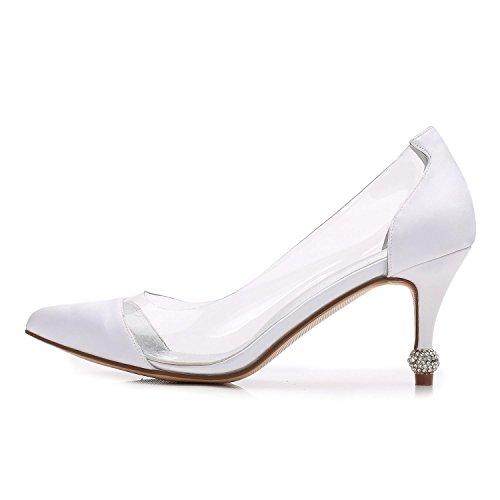 Cheville Chaussures Sandales Party Taille 38 Prom Talon YC L De Dames Femmes Bas Nuptiale K17767 Mariage white Mi Strap wZWvfqa