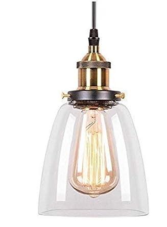 Glighone Pendelleuchte Vintage Glas Hängeleuchte Retro Industrial ...