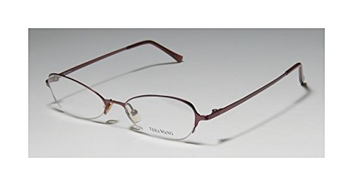 Vera Wang V100 WomensLadies Rx Ready Sleek Designer Half-rim EyeglassesEye Glasses (49-17-135 Wine)