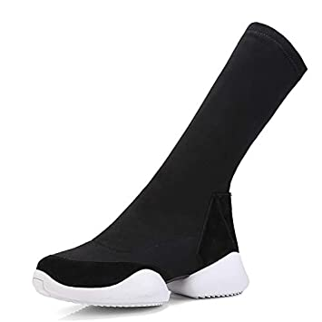 correr zapatos mayor descuento acogedor fresco TSNMNB Calcetines Botas Botas elásticas Botas Planas ...