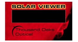 CA-50 - Hand-Held Black Polymer Film Solar Filter Viewer Cards (One pack of 50 each) by Thousand Oaks Optical