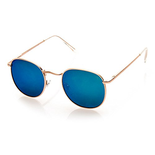 NYS Collection Eyewear Elton Street Aviator Sunglasses (Gold, - Collection Nys Sunglasses