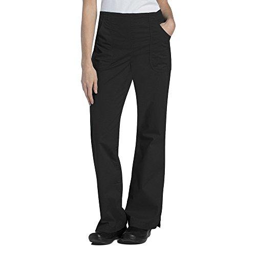 Ladies Flat Front Scrub Pants (Pre-Washed By Landau Women's Flat Front Cargo Scrub Pant Medium Tall Black)