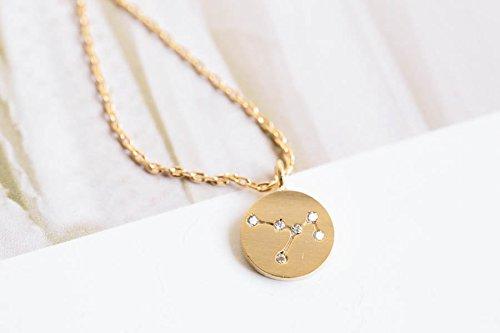 Gold Sagittarius Constellation Pendant Necklace,birthday Gift,zodiac  Sign,bridesmaid Gift,12N-00359