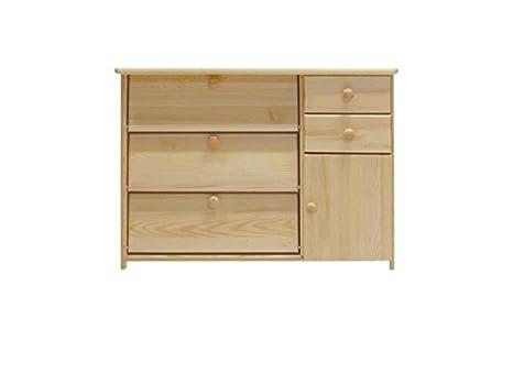 In legno massello Scarpiera, colore: naturale 62 x 90 x 40 cm ...
