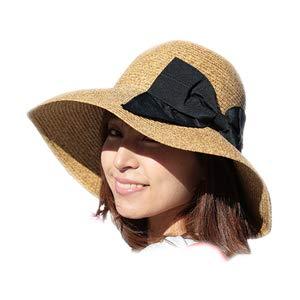 8e7578177a0367 帽子 レディース 麦わら帽子 UV 折りたたみ帽子 つば広 ハット 紫外線 春 夏 ストローハット uv