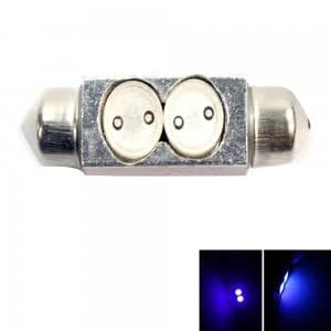 2 LED 2W Two-point Interior Dome Festoon Car Light Bulb Blue