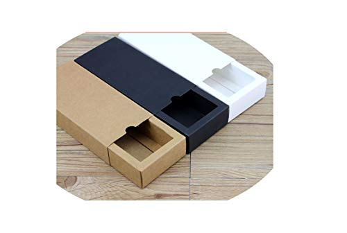 - Cardboard Box Kraft Paper Drawer Box Wedding White Gift Packing Paper Box For Jewelry/Tea/Candy,Brown,320X200X50Mm