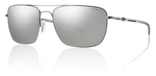 Smith Optics Nomad Premium Lifestyle Polarized Active Sunglasses - Matte Silve/Platinum / 59-17-140 (Active Lifestyle Sunglasses)